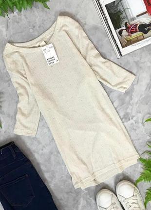 Трикотажная футболка в базовом цвете  ts1907024  h&m