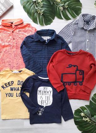 Комплект: футболки, рубашка, реглан, світшот h&m