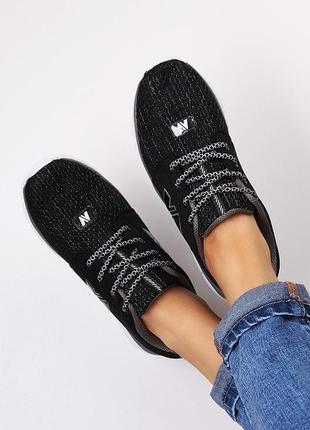 Акция!! черные стильные кроссовки. все размеры в наличии!!!
