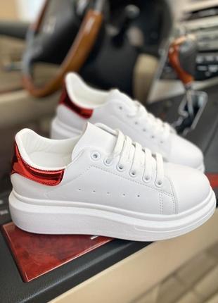 Идеальные кеды alexander mcqueen белые кроссовки кеди мокасины