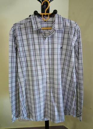 Мужская рубашка в клеточку elflamenco