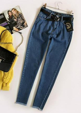 Идеальные джинсы мом с высокой посадкой rich denim (бойфренды, mom jeans)