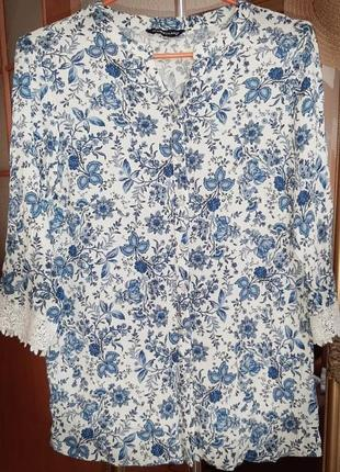 Блуза вискоза с рисунком