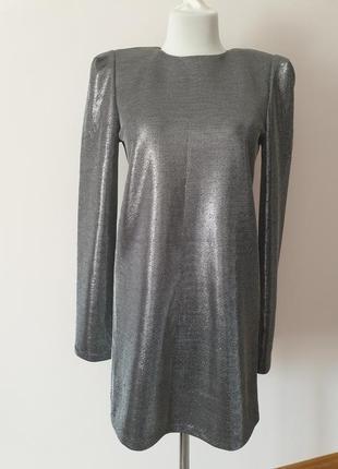 Вечернее платье с люрексом hm с плечиками s