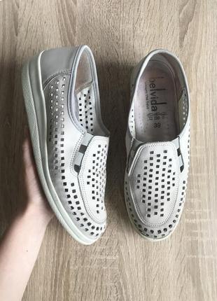 Belvida 39 р кожа туфли мокасины туфлі мокасини