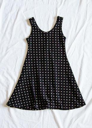 Черное платье короткое, черный сарафан, плаття, сукня
