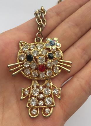 Набір, комплект лот, цепочки, подвеска hallow kitty.