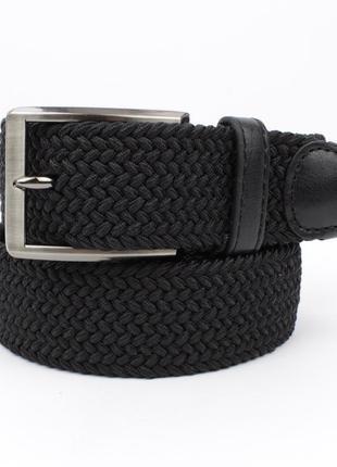 Плетеный ремень резинка alon (оригинал) 4900-101 черный, ширина 35 мм