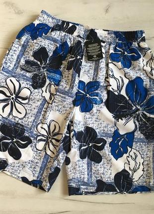 Шорты мужские пляжные в цветок c&a размер l, шорти чоловічі пляжні в квіти