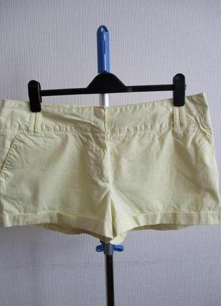 Натуральные хлопковые желтые шорты matalan