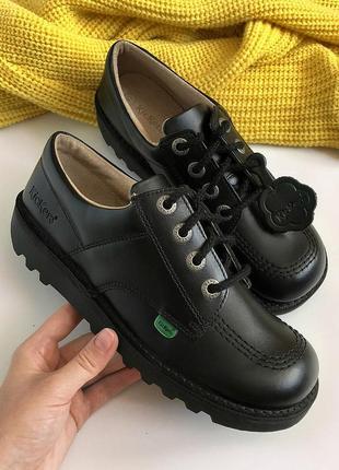 Обалденные натуральные кожаные туфли-ботинки kickers по типу dr. martens (оригинал)