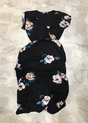 Бомбовое лёгкое платье в цветы