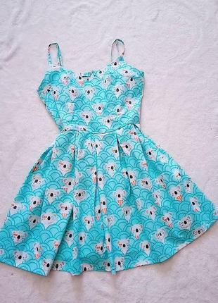 Платье в коалы
