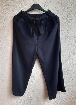 Штаны клёш, штаны клеш, брюки клеш черные,свободные штаны с карманами