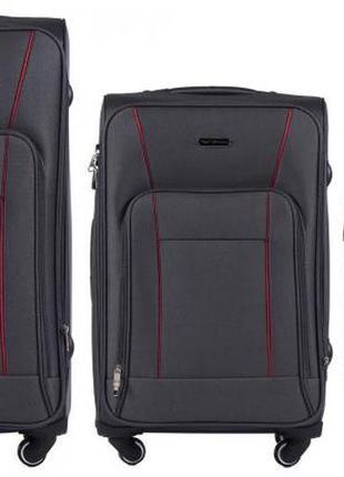 Акция!! распродажа!!! купить тканевый чемодан на 4х колесах