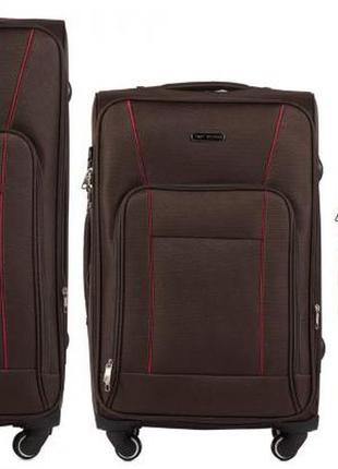 Распродажа!! акция!! купить тканевый чемодан на 4х колесах