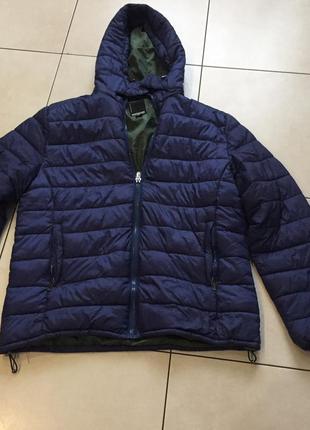 Большого размера мужская куртка с капюшоном