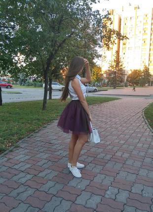 Пышная юбка из фатина. юбка-пачка. ту-ту. юбка-шопенка. фатиновая