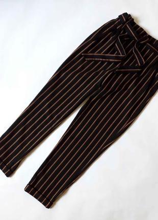 Стильные брюки в полоску zara