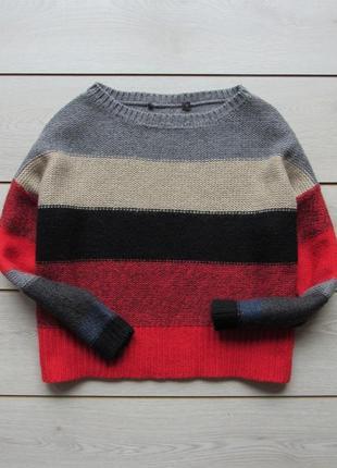 Укороченный свитер джемпер в полоску от next