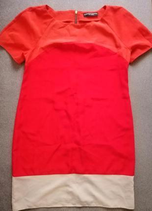 Летнее платье красно-оранжевого цвета