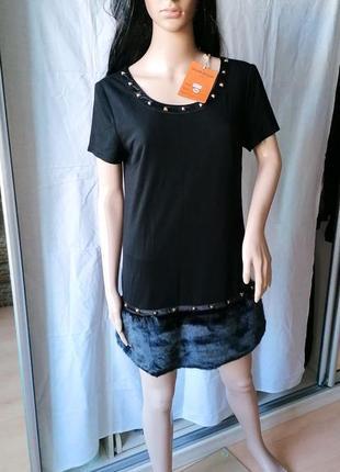 Новое с биркой трансформер платье-туника с мехом juane rouge париж (к086)4 фото