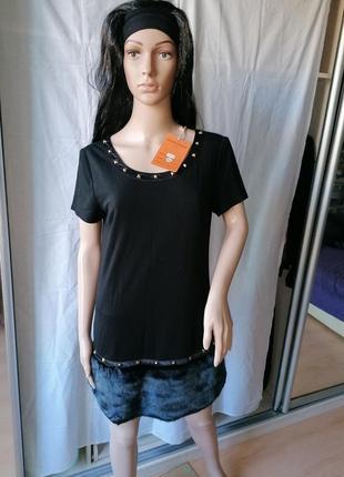 Новое с биркой трансформер платье-туника с мехом juane rouge париж (к086)
