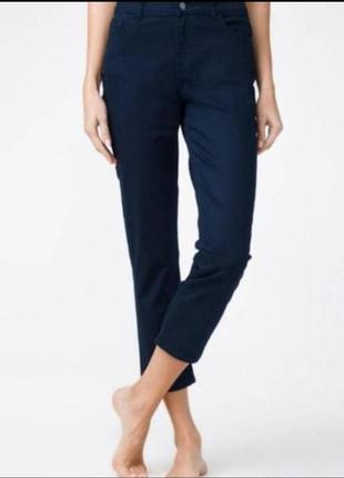 Стильные укороченные повседневные брюки zara