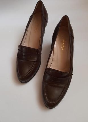 Винтажные кожаные туфельки