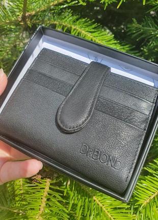 Чоловічий шкіряний гаманець - картхолдер dr.bond.