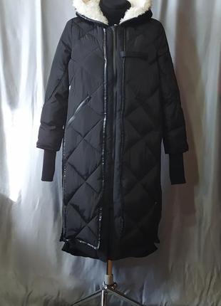 Зимнее пальто стёганое пуховик
