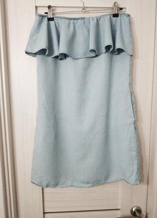 Крутое джинсовое легкое платье