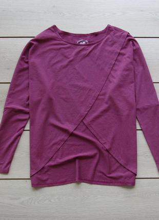 Блуза джемпер с разрезом свободного кроя