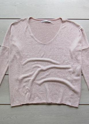 Нежно розовый джемпер свободного кроя от only
