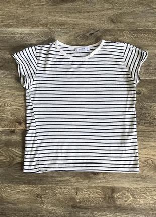 Укороченная футболка топ в полоску pull&bear