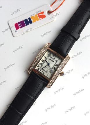 Водонепроницаемые часы skmei на кожаном ремешке, оригинал