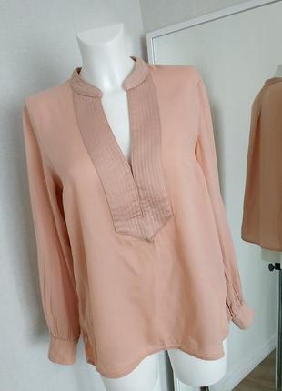 Женская блуза туника пудровая оверсайз