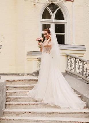 Свадебное платье, рыбка, размер 42