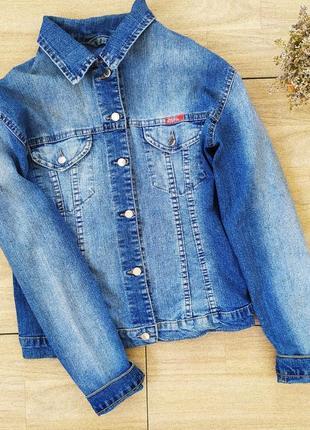 Джинсовка женская куртка пиджак жакет джинсовый