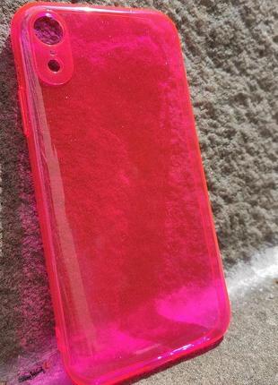 Неоновый силиконовый чехол на айфон хр iphone xr