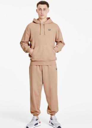 Мужской спортивный костюм puma бежевый размер m