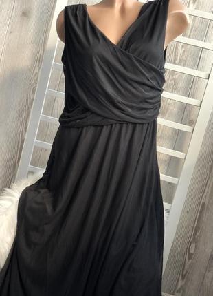 Чёрное длинное платье ! фатиновая юбка