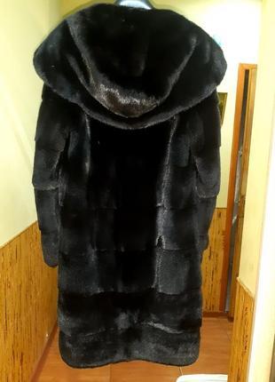 Греческая норковая шуба ego.blacknafa.42-44 размер