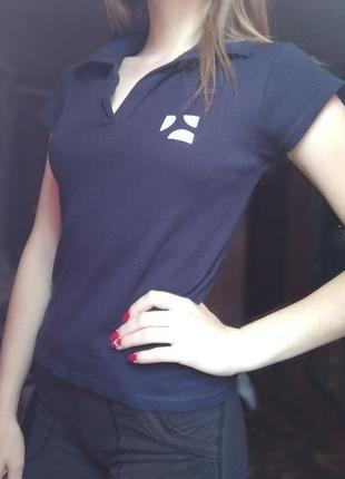Новая футболка майка поло тенниска с вырезом fruit of the loom