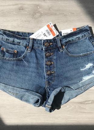 Шорты джинсовые с потёртостями 34 р