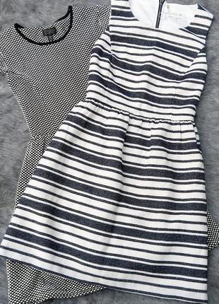 Платье с отрезной талией из фактурной ткани