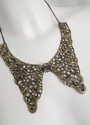 Бижутерия украшение на шею ожерелье под бронзу винтажный стиль