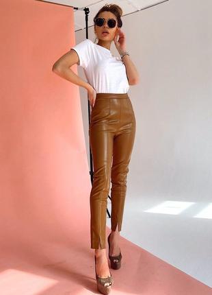Лосины штаны кожаные зара
