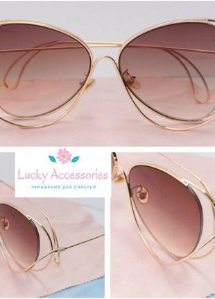 Новые очки с коричневой линзой