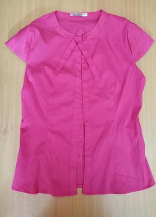 Элегантная блуза розового цвета пуговицы, р. 46